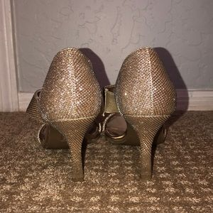 Unlisted by Kenneth Cole Shoes - Gold 3 Inch Heels